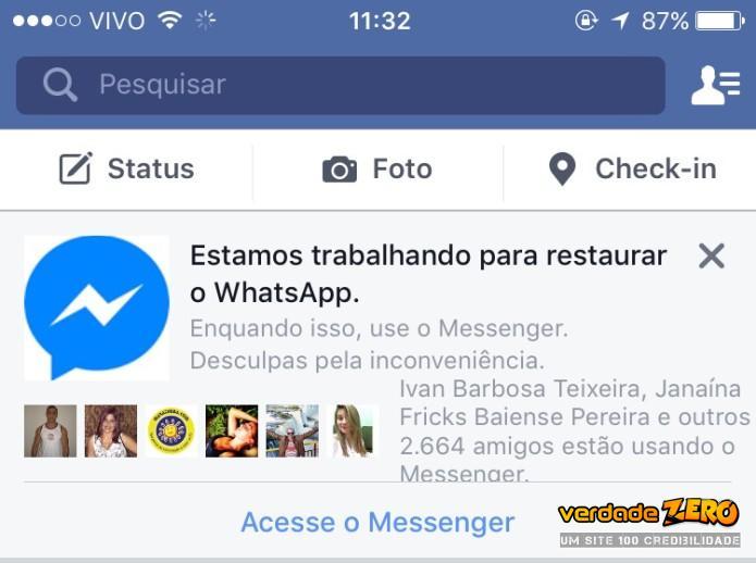 Apesar de médico recomendar o Viber, o Facebook recomenda o uso do Messenger