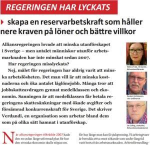 Verdandi analytiker Jan Edling har gjort en granskning av regeringens åtta år vid makten. Regeringens politik skapar ett två-tredjedelssamhälle och sänker Sveriges konkurrenskraft.