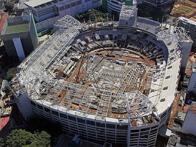 Allianz Parque em construção