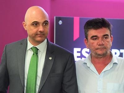Maurício Galiotte e Andrés Sanchez
