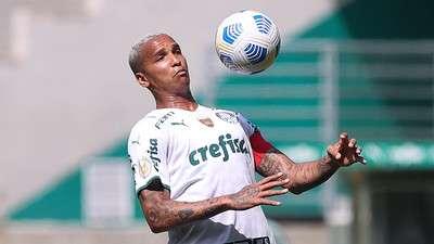 Deyverson durante jogo-treino do Palmeiras no Allianz Parque