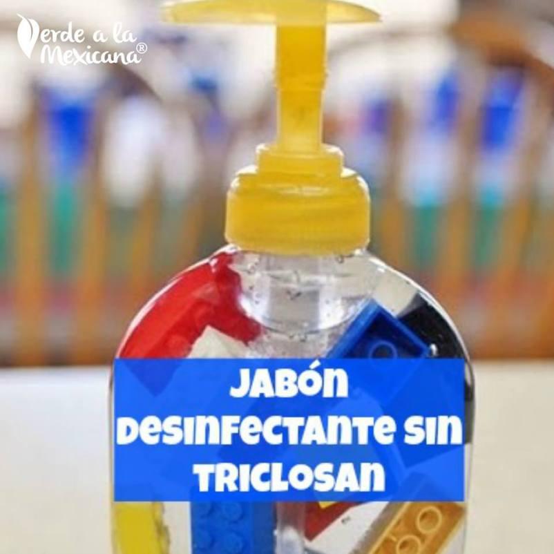 jabon desinfectante sin triclosan