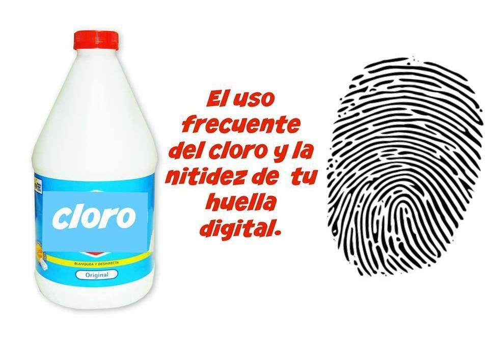 El cloro y tu huella digital