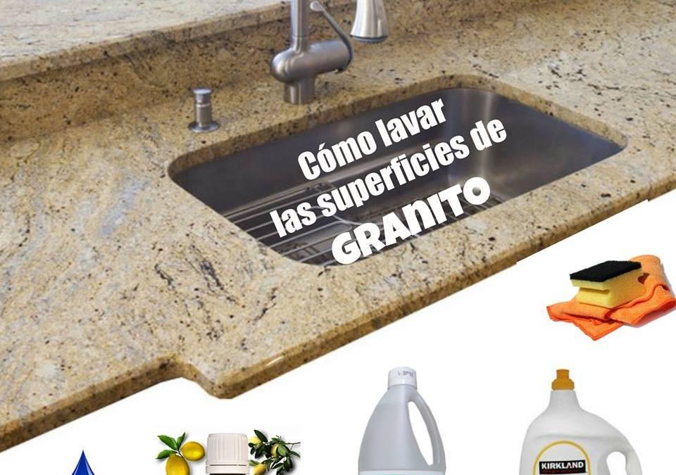 Cómo limpiar superficies de granito