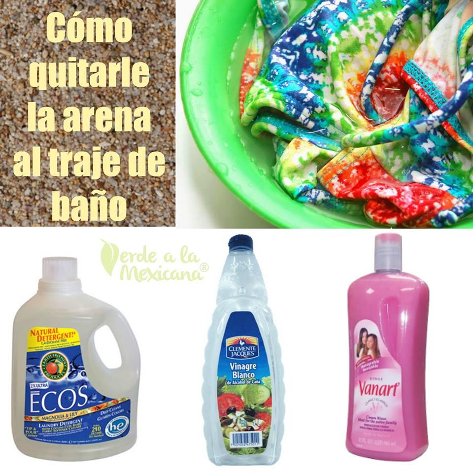 Arena Cómo De Traje Verde Al A Baño Quitarle Mexicana La 34qAcjS5RL