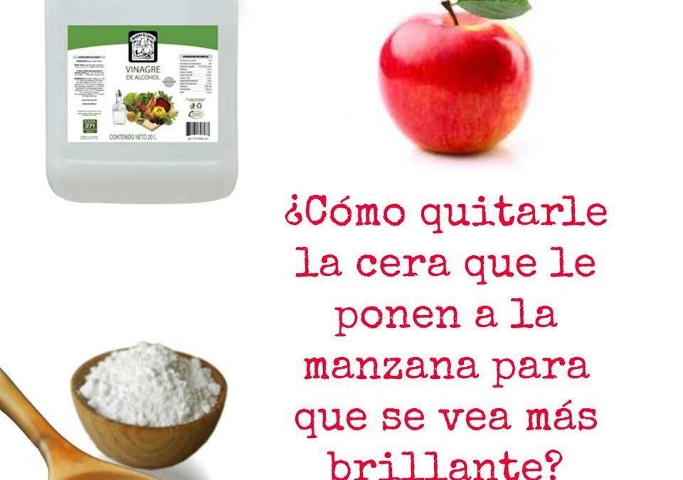 Cómo quitar la cera a las manzanas