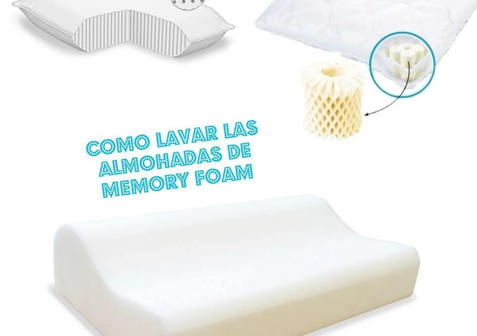 Cómo lavar las almohadas de Memory Foam