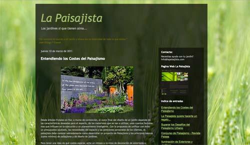 jardines y blogs : Web la paisajista