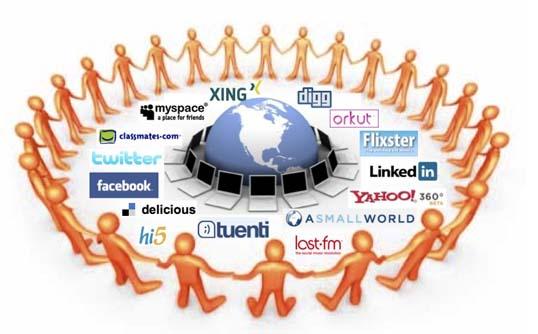 redes sociales y paisajismo
