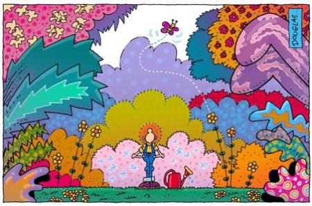 Humor y jardinería - El Jardinero Mágico no necesita consultar el calendario para saber que llegó la primavera.