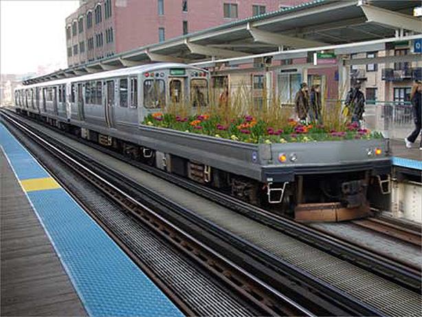 Cubierta en tren de Chicago