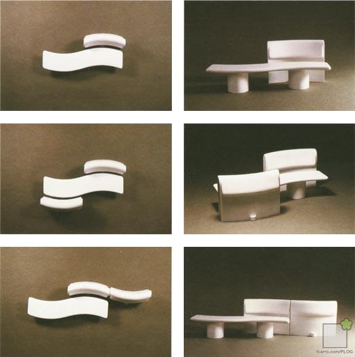 Combinacion bancos piedra artificial Expo92