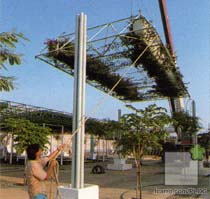 Instalación de las pérgolas
