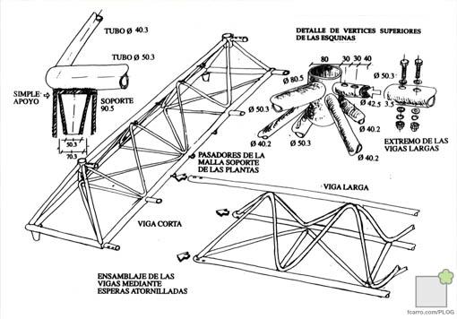 Detalle estructura pérgola