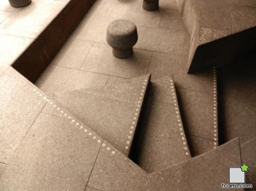 Exterior Pabellón Serpentine Gallery 2012, detalle de la planta baja
