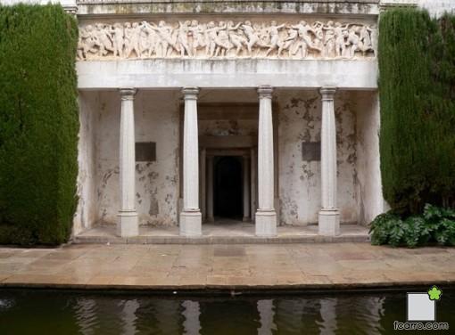 Relieves portada Jardín de Venus de la Fundación Carmen Fundación Rodríguez Acosta