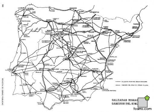 Ordenación del territorio: Calzadas y Caminos S.XVI