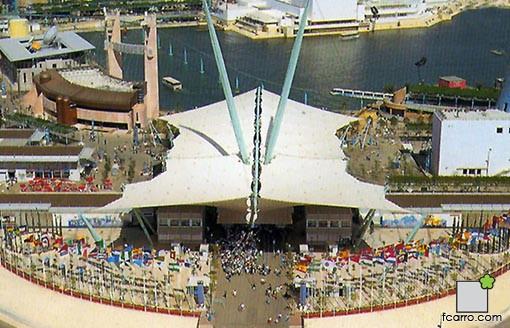 paisajismo de Expo 92: Puerta Barqueta vista aérea