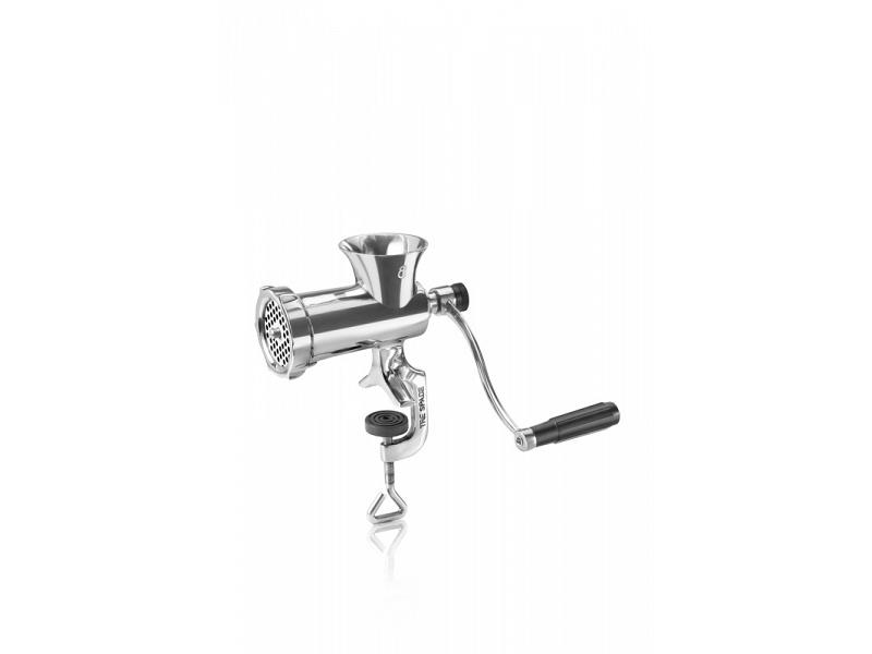 Manual meat grinder in stainless steel tre spade mod. tc-8