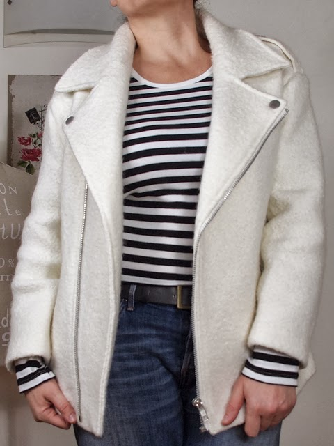 Outfit |  caban bianco oversize