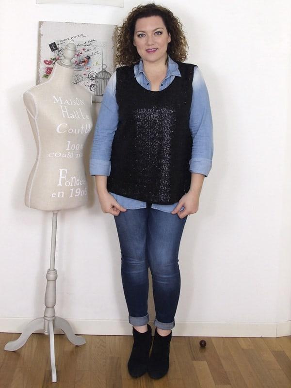 VerdementaBlog casual outfit curvy top paillettes Fiorella Rubino- curvyblogger -1