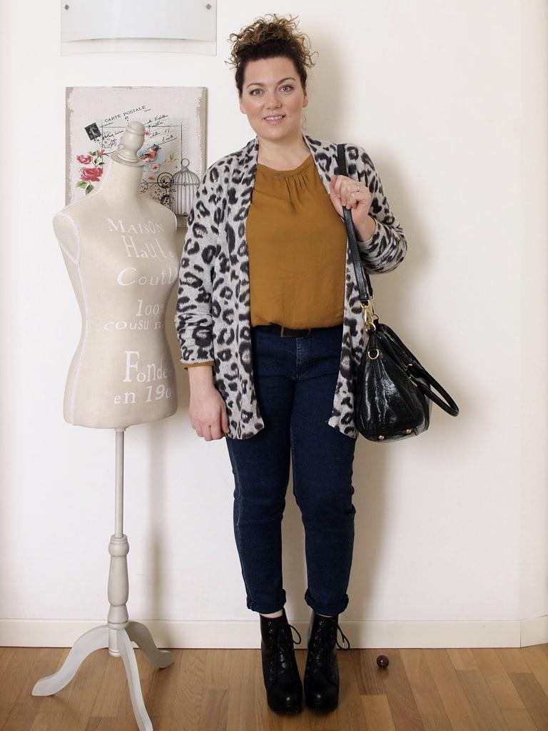 VerdementaBlog outfit curvy cardigan leopardato H&M-1
