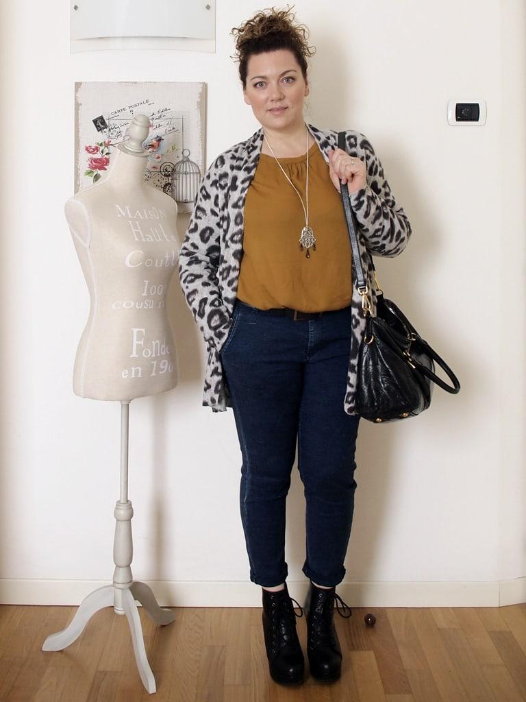 VerdementaBlog outfit curvy cardigan leopardato H&M-3