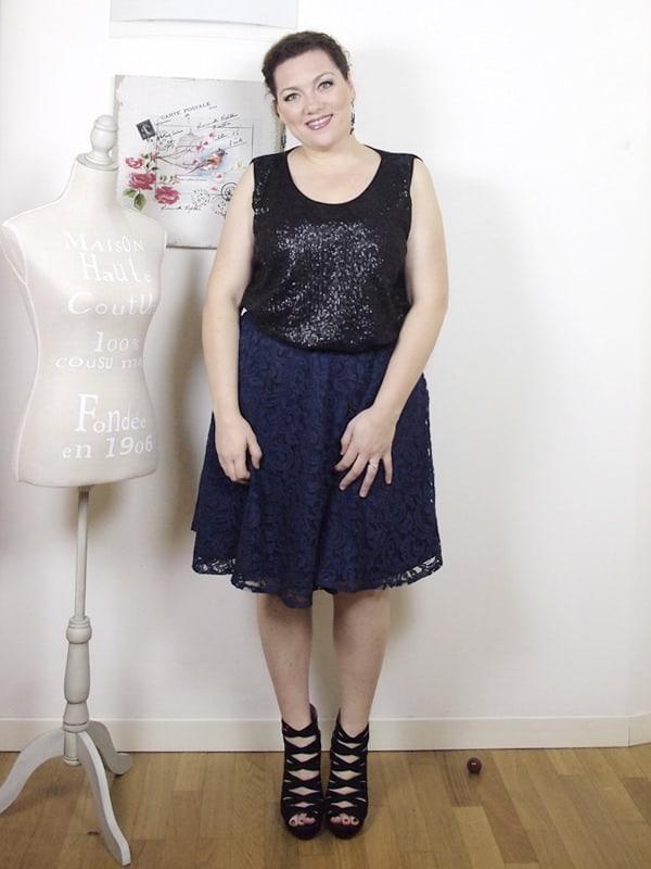 VerdementaBlog outfit curvy top paillettes Fiorella Rubino-gonna midi-tacchi alti-curvyblogger -15