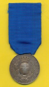 militaria storia militare medaglia argento al valore militare