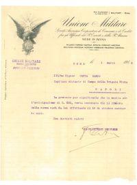 militaria da collezione lettera militare