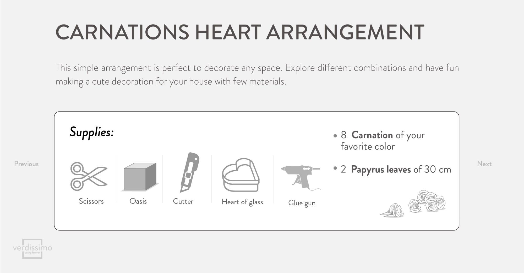 hight resolution of carnations heart arrangement