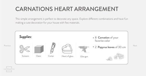 small resolution of carnations heart arrangement