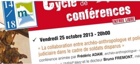 Image Cycle 2013 de conférences par 14-18 Meuse