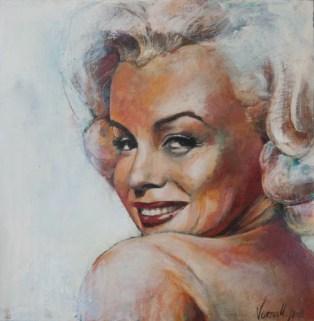 Marylin, Acryl auf Leinwand, 44x44cm