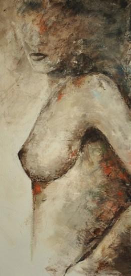 Dorothea, Acryl auf Leinwand, 100x50xm