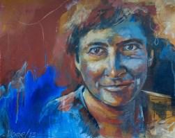 Anja, Acryl auf Acrylpapier, 40x50cm