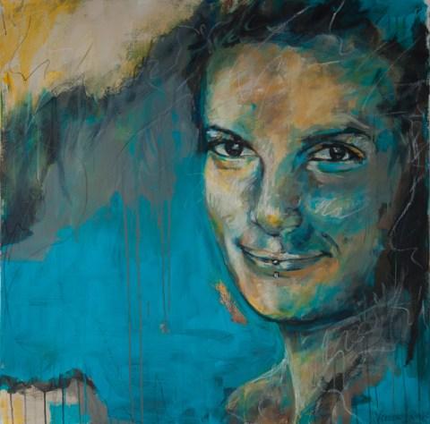 Vera, Acryl auf Leinwand, 100x100cm
