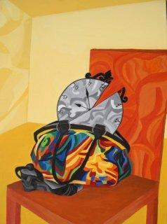 Stilleben, Acryl auf Leinwand, 60x80cm