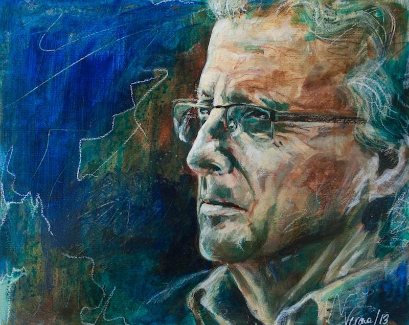 Klaus, Acryl auf Acrylpapier, 40x50cm