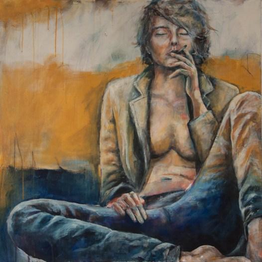 Elaine, Acryl auf Leinwand, 100x100cm