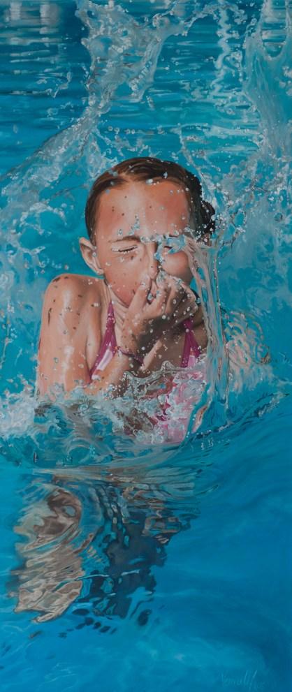 Splash, Acryl auf Leinwand, 140x60cm