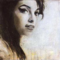 Amy Winehouse,Acryl auf Leinwand, 44x44cm