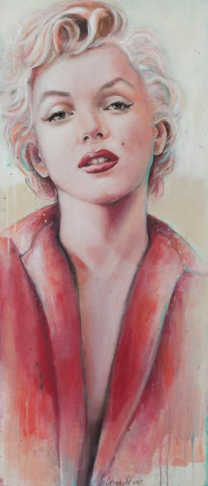 Marylin Monroe,Acryl auf Leinwand, 100x44cm