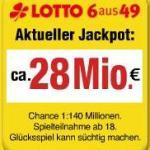 28 Mio. Lotto Jackpot – und Verena ist dabei!