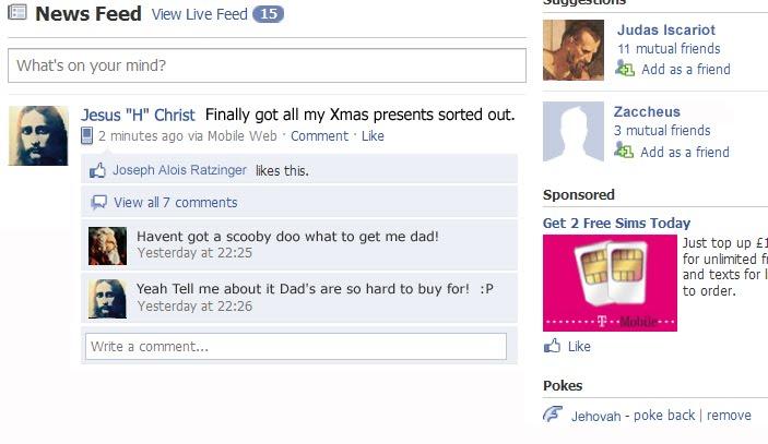 Jesus on Facebook