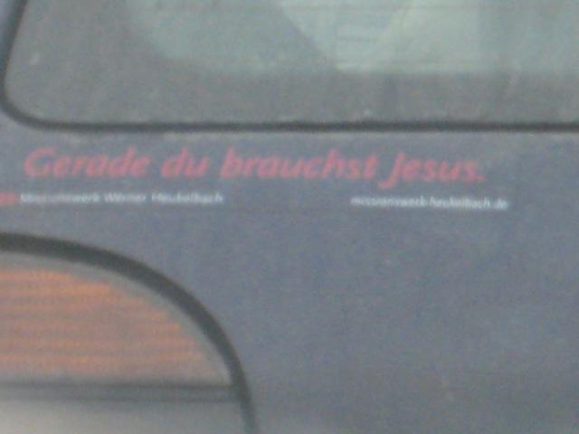 Gerade Du brauchst Jesus!