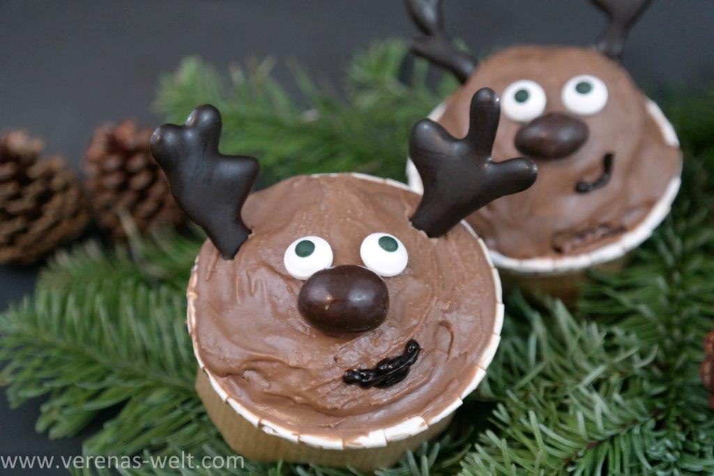 Rentier-Cupcakes für Weihnachten