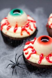 Halloween: Glubschaugen-Cupcakes