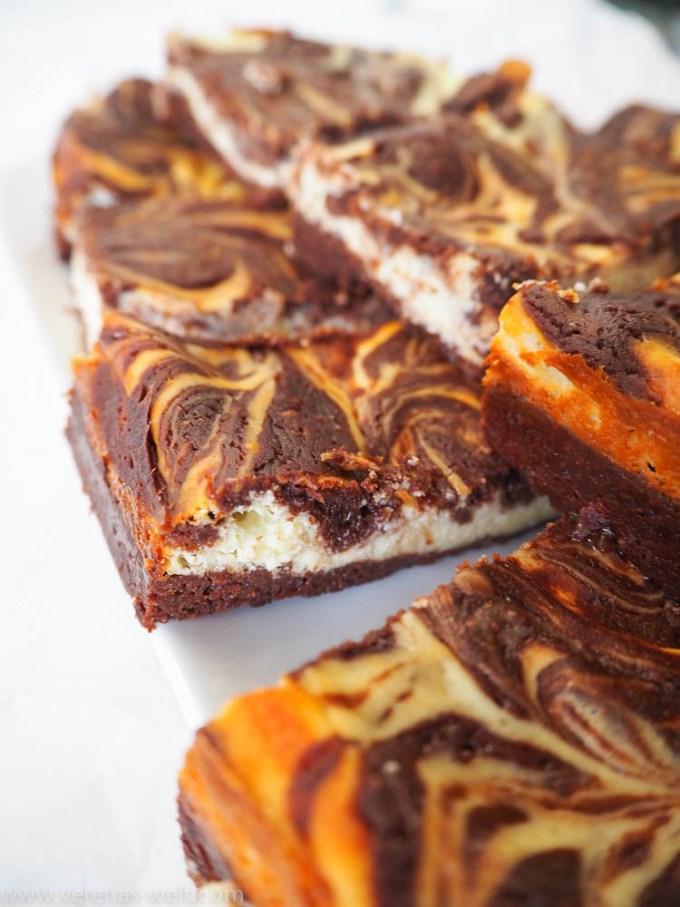 Supersaftige Cheesecake-Brownies