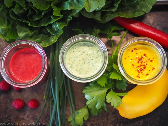 Frische schnelle Salatdressings
